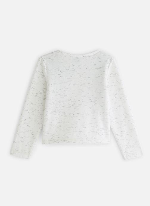 Vêtements 3 Pommes Sweat Paillettes Molleton Gratté Blanc vue bas / vue portée sac