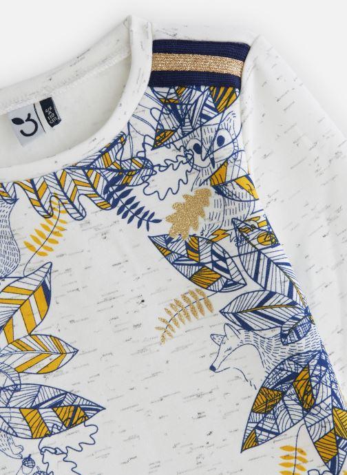 Vêtements 3 Pommes Sweat Paillettes Molleton Gratté Blanc vue portées chaussures