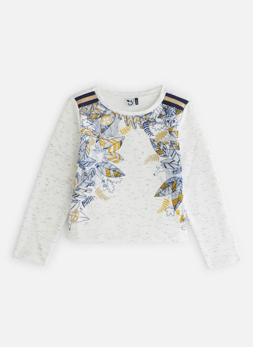 Vêtements 3 Pommes Sweat Paillettes Molleton Gratté Blanc vue détail/paire