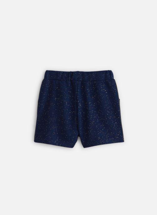 Vêtements 3 Pommes Short Chic Maille Gaufrée Bleu vue bas / vue portée sac