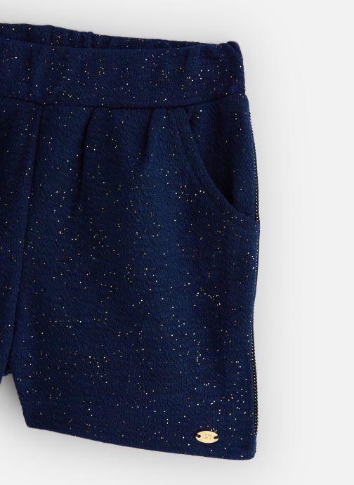 Vêtements 3 Pommes Short Chic Maille Gaufrée Bleu vue portées chaussures