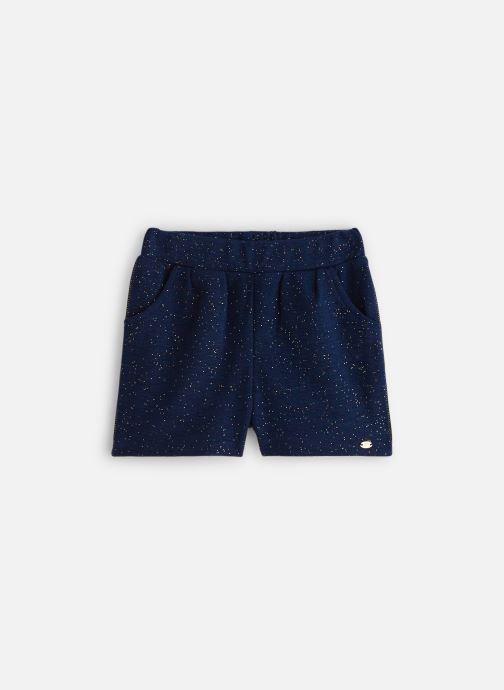 Vêtements 3 Pommes Short Chic Maille Gaufrée Bleu vue détail/paire