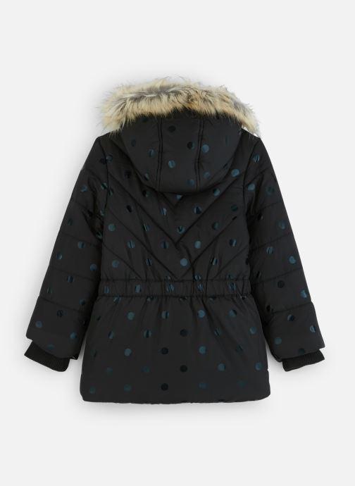 Vêtements 3 Pommes Manteau à Capuche Noir à Pois - Fausse Fourrure Noir vue bas / vue portée sac
