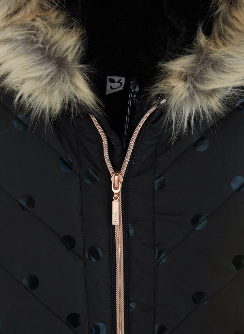 Vêtements 3 Pommes Manteau à Capuche Noir à Pois - Fausse Fourrure Noir vue portées chaussures
