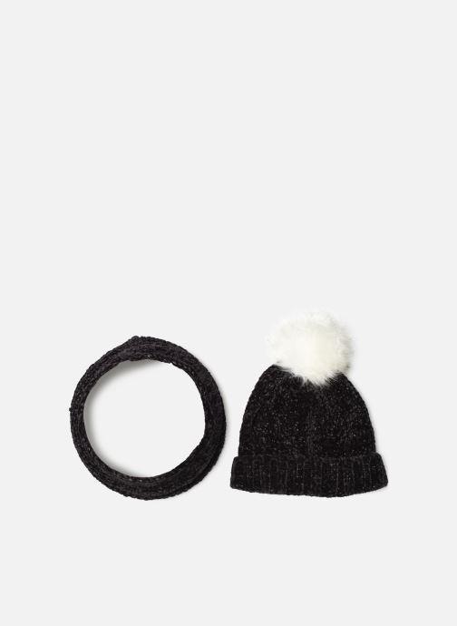 Bonnets 3 Pommes Bonnet à Pompon + Snood Noir vue détail/paire
