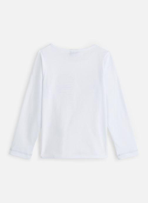Vêtements 3 Pommes T-Shirt Blanc Sequin Cœur Blanc vue bas / vue portée sac