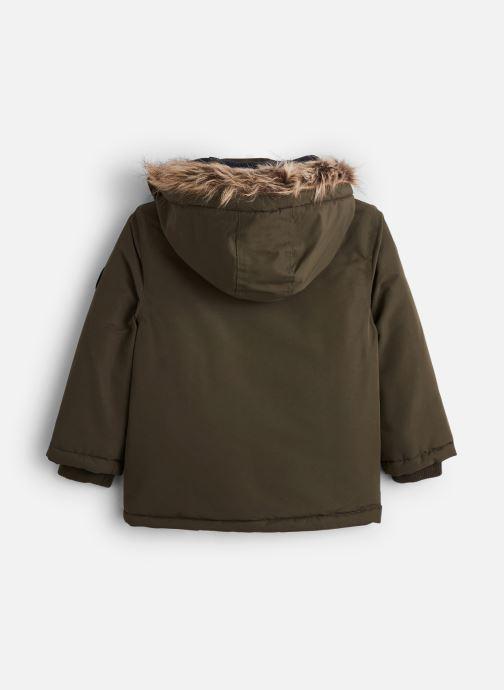 Vêtements 3 Pommes Parka 3P42005 Vert vue bas / vue portée sac