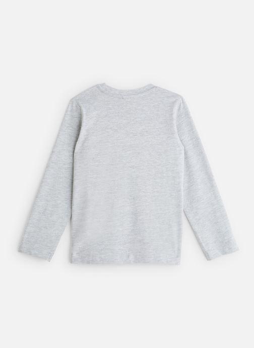 """Vêtements 3 Pommes T-Shirt """"Up & Down"""" Blanc Gris vue bas / vue portée sac"""