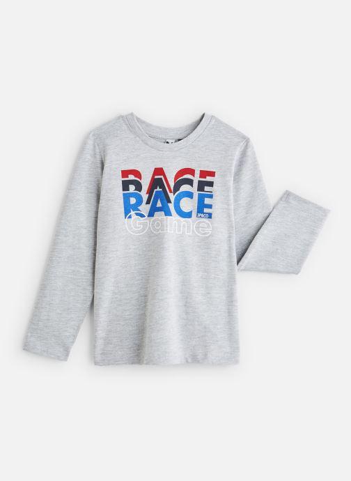 """Vêtements 3 Pommes T-Shirt """"Up & Down"""" Blanc Gris vue détail/paire"""