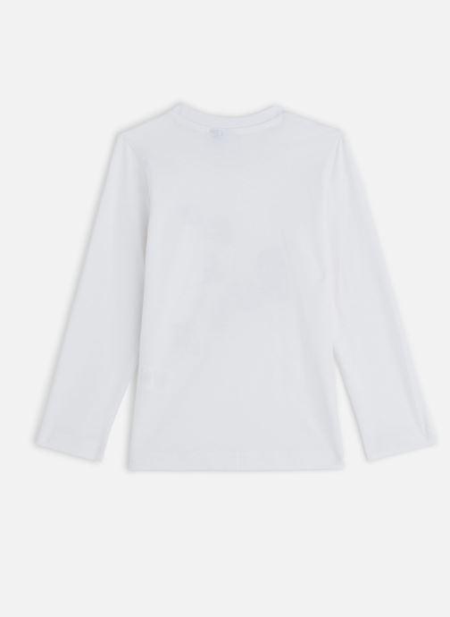 """Vêtements 3 Pommes T-Shirt """"Up & Down"""" Blanc Blanc vue bas / vue portée sac"""