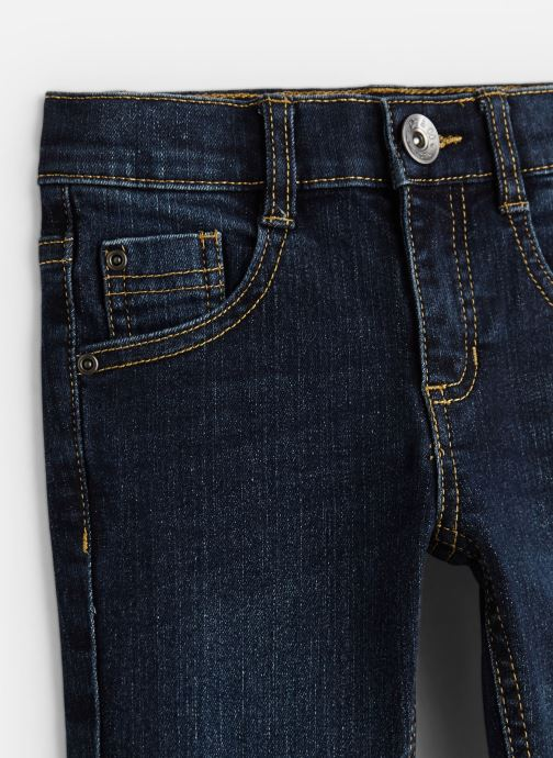 Vêtements 3 Pommes Pantalon Denim Bleu - 5 poches Bleu vue portées chaussures
