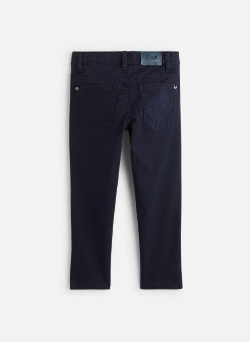 Vêtements 3 Pommes Pantalon Chino Bleu Nuit - Taille réglable Bleu vue bas / vue portée sac
