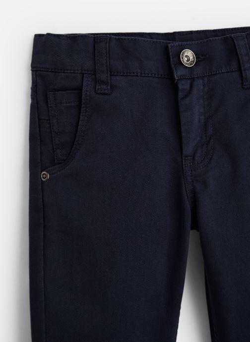 Vêtements 3 Pommes Pantalon Chino Bleu Nuit - Taille réglable Bleu vue portées chaussures