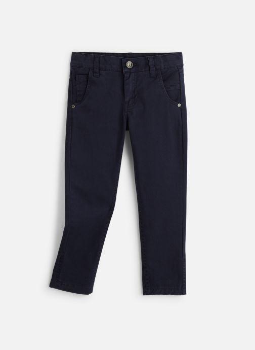 Vêtements 3 Pommes Pantalon Chino Bleu Nuit - Taille réglable Bleu vue détail/paire