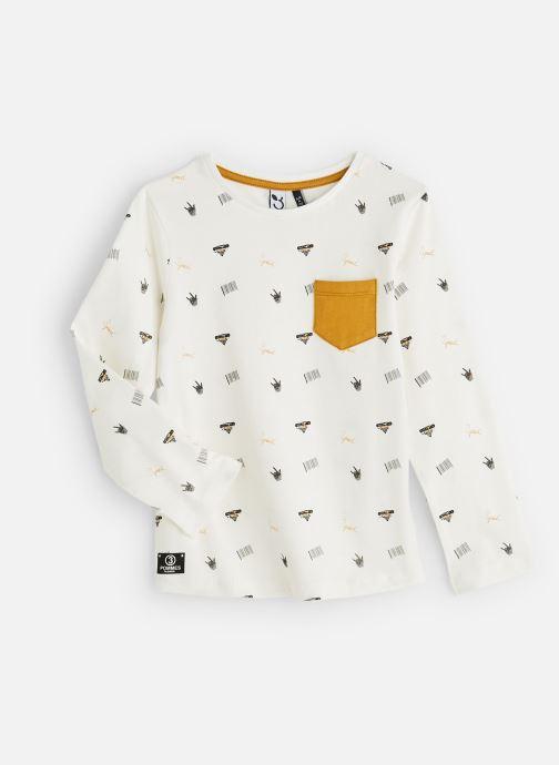 Vêtements 3 Pommes T-Shirt Blanc Cassé Manches Longues Blanc vue détail/paire