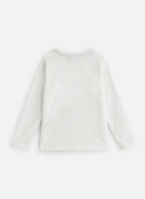Vêtements 3 Pommes T-Shirt Manches Longues Blanc vue bas / vue portée sac