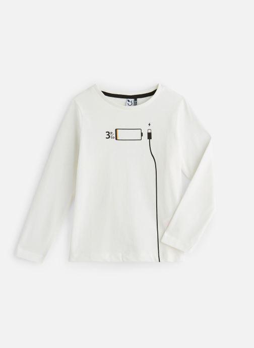 Vêtements 3 Pommes T-Shirt Manches Longues Blanc vue détail/paire