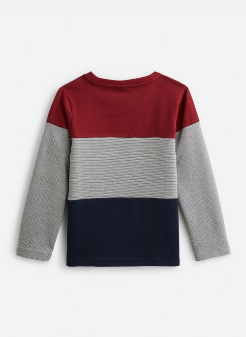 Vêtements 3 Pommes T-Shirt 3P10055 Gris vue bas / vue portée sac