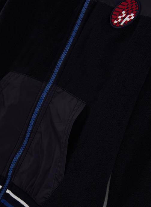 Vêtements 3 Pommes Gilet 3P17015 Bleu vue portées chaussures