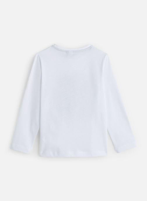 Vêtements 3 Pommes T-Shirt Blanc Sequins Manches Longues Blanc vue bas / vue portée sac