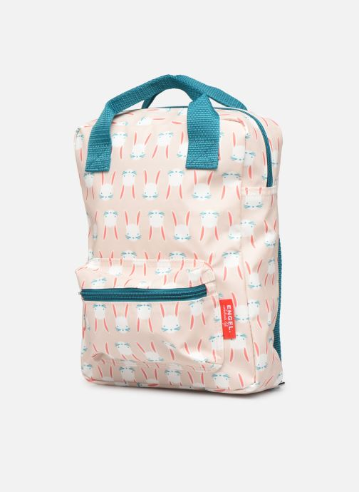 Scolaire ENGEL. Backpack Small 22*8*28cm Beige vue portées chaussures