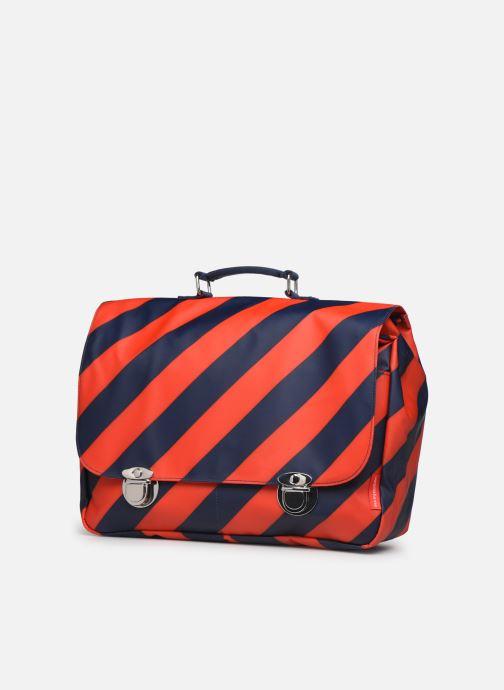 Scolaire ENGEL. School bag Large 37*14*28cm Bleu vue portées chaussures
