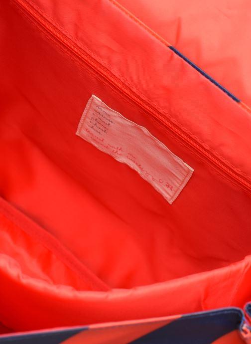 Schooltassen ENGEL. School bag Large 37*14*28cm Blauw achterkant
