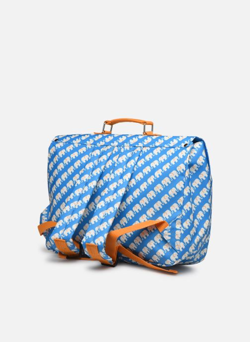 School bags ENGEL. School bag Large 37*14*28cm Blue view from the right