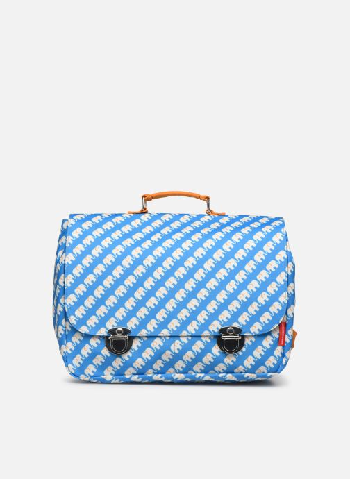 Schooltassen ENGEL. School bag Large 37*14*28cm Blauw detail