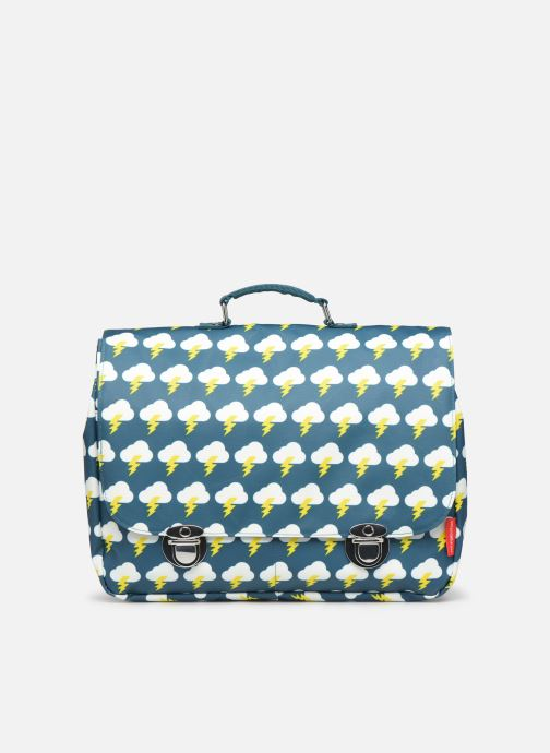 Schooltassen ENGEL. School bag Large 37*14*28cm Groen detail