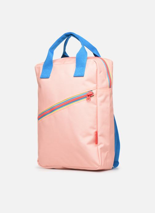 Scolaire ENGEL. Backpack Large 26*11*35cm Rose vue portées chaussures