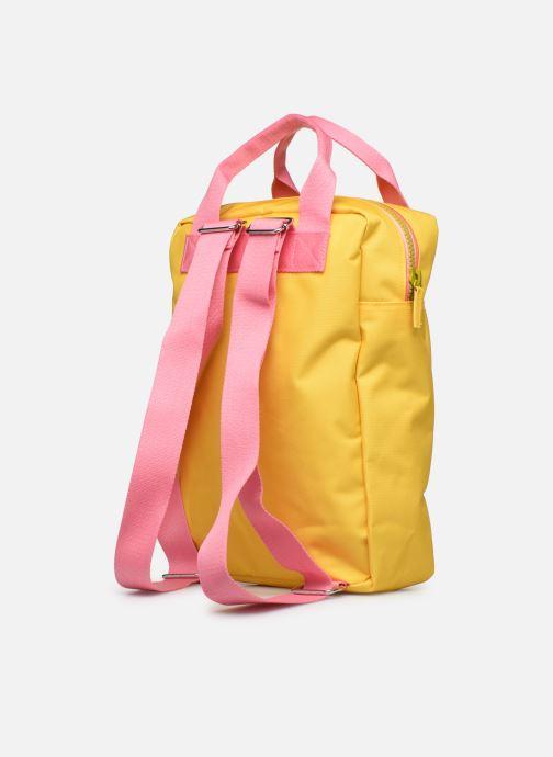Skoletasker ENGEL. Backpack Large 26*11*35cm Gul Se fra højre