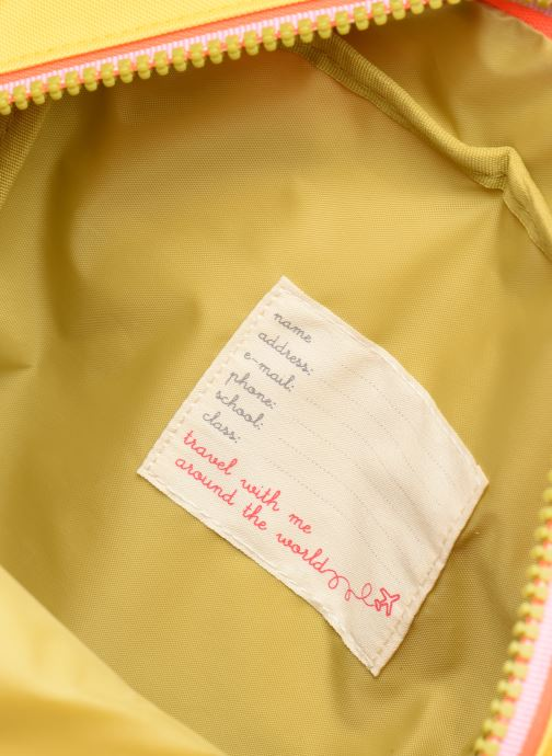 Schooltassen ENGEL. Backpack Large 26*11*35cm Geel achterkant