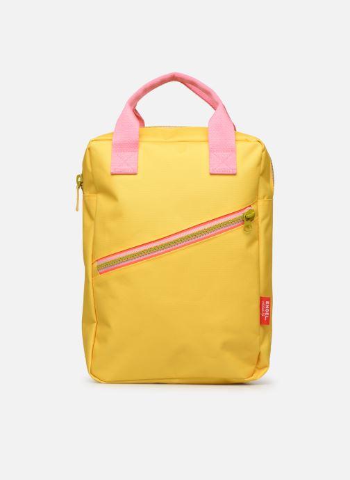 Schooltassen ENGEL. Backpack Large 26*11*35cm Geel detail