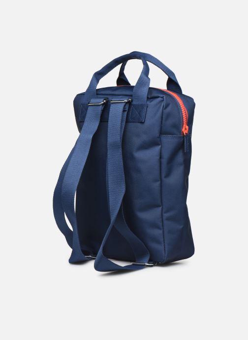 Schooltassen ENGEL. Backpack Large 26*11*35cm Blauw rechts