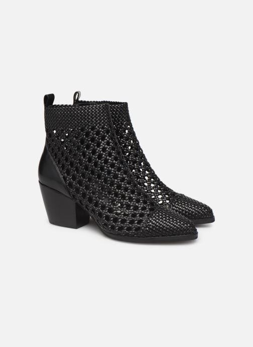 Bottines et boots Michael Michael Kors Augustine Mid Bootie Noir vue 3/4