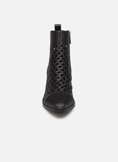 Boots Michael Michael Kors Augustine Mid Bootie Svart bild av skorna på