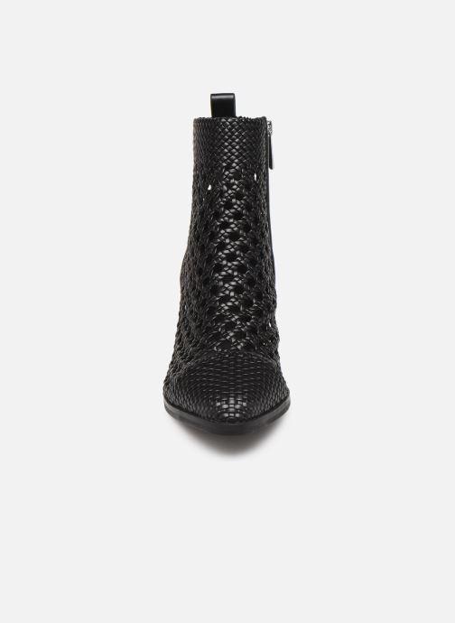 Bottines et boots Michael Michael Kors Augustine Mid Bootie Noir vue portées chaussures