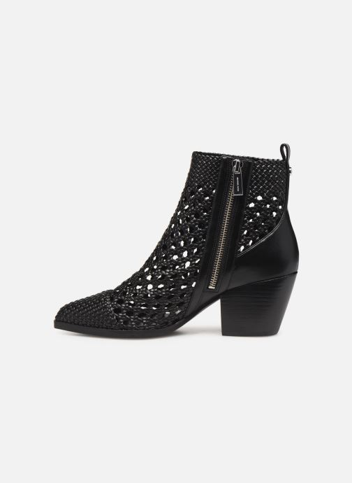 Boots en enkellaarsjes Michael Michael Kors Augustine Mid Bootie Zwart voorkant