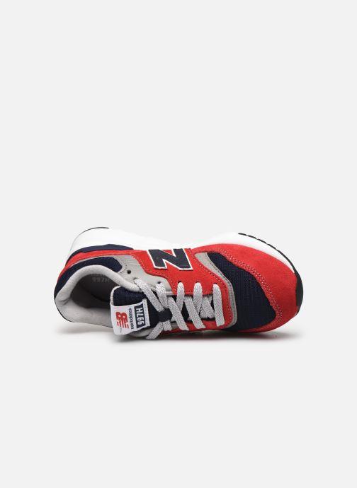 Sneaker New Balance GR997 rot ansicht von links