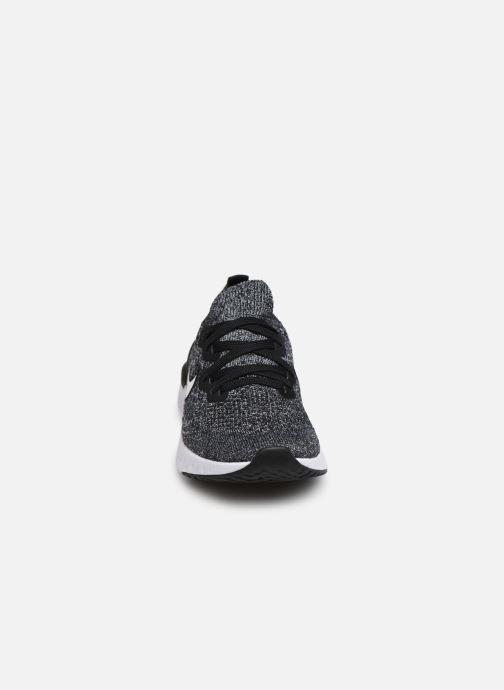 Chaussures de sport Nike Nike Epic React Flyknit 2 (Gs) Noir vue portées chaussures