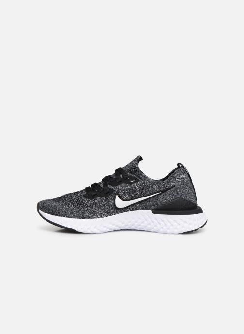 Chaussures de sport Nike Nike Epic React Flyknit 2 (Gs) Noir vue face