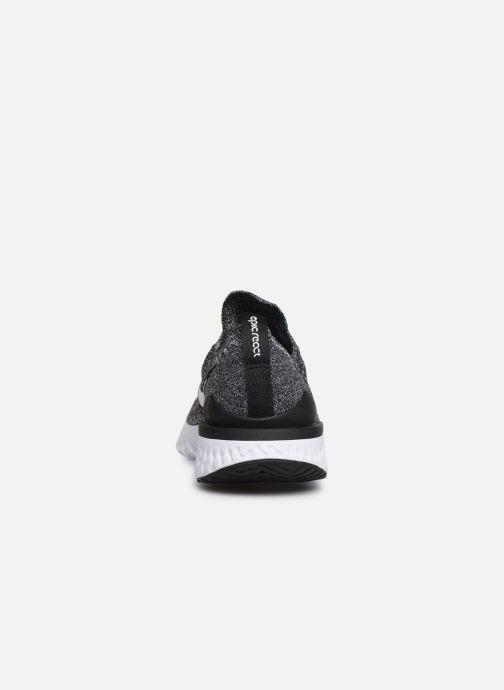 Chaussures de sport Nike Nike Epic React Flyknit 2 (Gs) Noir vue droite