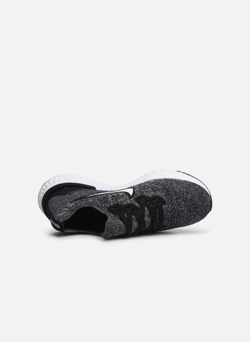 Chaussures de sport Nike Nike Epic React Flyknit 2 (Gs) Noir vue gauche