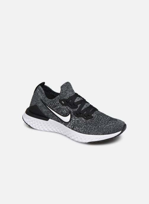 Sport shoes Nike Nike Epic React Flyknit 2 (Gs) Black detailed view/ Pair view