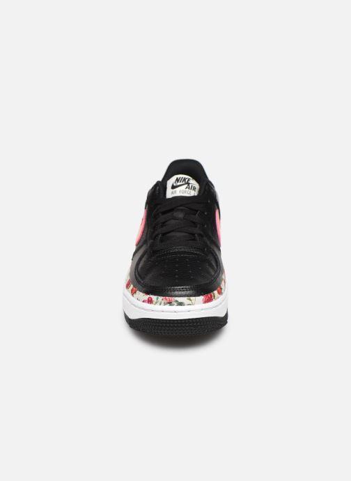 Baskets Nike Air Force 1 Vf (Gs) Noir vue portées chaussures