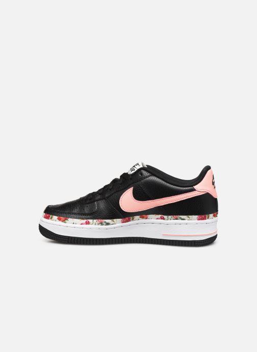 Sneakers Nike Air Force 1 Vf (Gs) Zwart voorkant