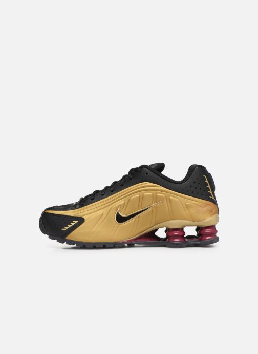 Baskets Nike Nike Shox R4 (Gs) Or et bronze vue face