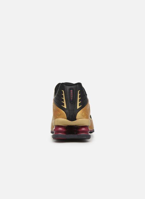 Baskets Nike Nike Shox R4 (Gs) Or et bronze vue droite