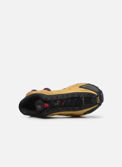 Baskets Nike Nike Shox R4 (Gs) Or et bronze vue gauche